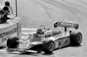 Alfa Romeo 182 Bruno Giacomelli Long Beach GP 1982 action photo